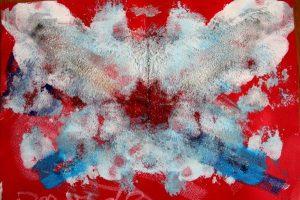 macchia di colore simile a una farfalla